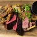 料理メニュー写真ブランド豚TOKYO X入り肉盛り3 種( 牛ハラミ、東京X、大山鶏)