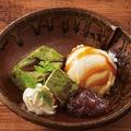 料理メニュー写真抹茶わらびもちとバニラアイス