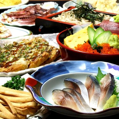 職人の手作り料理もドリンクもリーズナブルにお楽しみ頂けます!〆は「そば」で!!