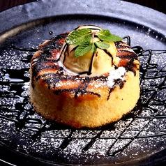 窯焼きホットケーキ バニラアイス&チョコソース
