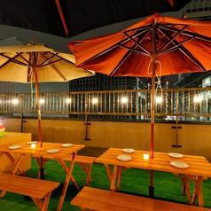 【丸Terrace Parasol席】6名~12名までご利用頂けるお席です。