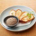料理メニュー写真黒鶏レバーパテ