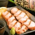 料理メニュー写真三元豚バラ肉の岩塩焼き