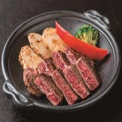 料理メニュー写真やわらか牛ステーキ