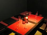 可愛いテーブル個室!
