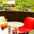 『RELIEF リリーフ』には、新横浜では珍しいテラス席もございます!!夏季限定で、BBQコースもご予約できますよ☆手ぶらでラクチン♪爽やかな風が気持ちい~!!ストーブ・ひざ掛けアリ◎