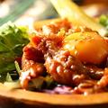 料理メニュー写真鶏セセリの黄身のせ
