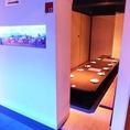 大小、色んな個室が楽しい!
