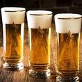 【当店自慢のビール各種】ワンランク上のプレミアム飲み放題をご注文いただくと≪サッポロ生『黒ラベル』≫の他に≪ヱビス生≫≪ヱビスプレミアムブラック≫≪ヱビス&ヱビス≫などの豪華生ビールも飲み放題!ビール以外にもハイボール・サワー・ソフトドリンクなど各種ご用意しております!