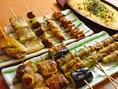 焼き立てアツアツの串が宴を盛り上げます!