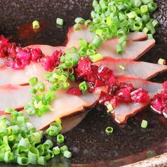 鮮魚の塩昆布しば漬けカルパッチョ