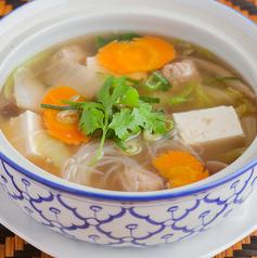 豚ミンチと豆腐の春雨スープ