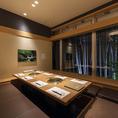当店自慢の竹林が見える個室は、4名様~最大8名様までご利用いただけます。