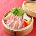 料理メニュー写真やまと豚ロースと彩り野菜の蒸籠蒸し