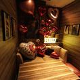 エリア屈指のVIP空間!人数に合わせた完全個室も完備☆もちろん自分たちで作り上げるデコ部屋OK!!