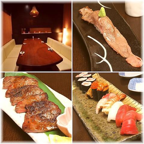 成田のクールなダイニング☆寿司と和洋創作料理をリッチな個室で愉しめるお店です♪