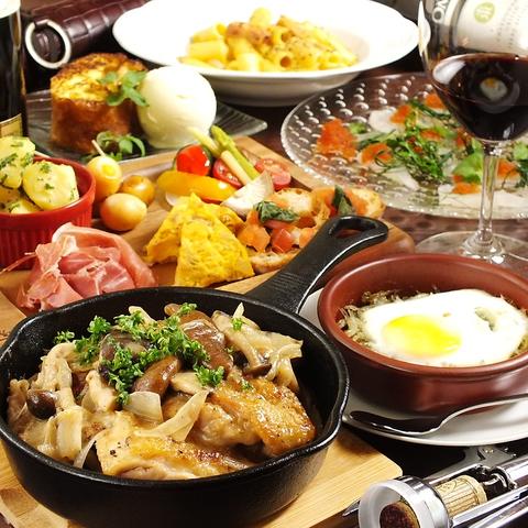 人気のお料理を集めた コースDue◇2700円とリーズナブルにご提供
