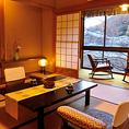 高野川のせせらぎと庭園に囲まれた、京 の奥座敷のような風情ある客室です