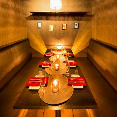 高級感溢れるワンランク上の個室は様々なシチュエーションでご利用頂けます。夜景を見ながらこだわりのディナーをお愉しみくださいませ。