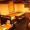 少人数の飲み会や各種宴会等にはテーブル席で。