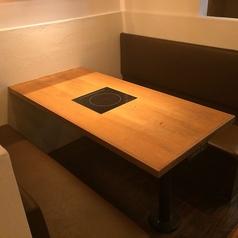 【6名様掛けの半個室】他の席とは仕切られた半個室の空間。接待や少人数宴会に◎