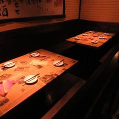 落ち着いた和モダン空間は雰囲気も◎。デートや記念日にもバツグン!宴会利用に便利なソファーテーブル席。様々な宴会に最適♪そのほか、半個室風お席は人気のため事前ご予約がオススメ☆ゆったり寛げる掘りごたつ席は団体様に大好評!貸切時は200名でのご利用が可能!!