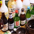 本場韓国の美味しいお酒もご用意!