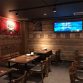 カリビアンカフェの隠し部屋★ 20~30名様程度の宴会やいつもと違う空間で過ごしたい方など用途は様々!隣接フロアと隔離され新設した場所なので一味違った印象を!