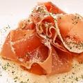 料理メニュー写真4種類チーズのクリームリゾット イタリア産生ハム添え