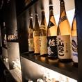 お酒は日本酒・焼酎・カクテルを中心に100種類以上取り揃え。