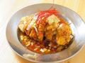 料理メニュー写真ザクザク油淋鶏/厚切り雲仙ハムカツ