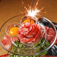 誕生日・記念日には花火付きの肉タワーでお祝い☆