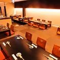 座敷での最大宴会は35名!高級旅館のようなお座敷でしっとり宴会。