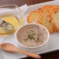 料理メニュー写真3大名物 白レバーとクリームチーズのパテ
