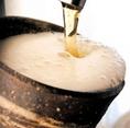 わんのビールはひんやり陶器☆だから美味い
