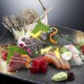 料理メニュー写真盛り合せ刺身5種