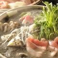 料理メニュー写真豆乳仕立て黒胡麻味噌鍋~岩手岩中豚ばら肉のハリハリ鍋~
