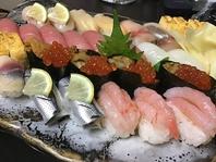 新鮮魚介類のお鮨を何処よりも安く提供しております。
