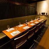 8~12名様向けのテーブル席。会社宴会など10名様前後のお集まりにぴったり♪