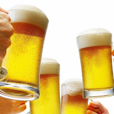 ■当日OK!生ビール含む約70種ドリンク飲み放題お1人様120分1500円(税抜)