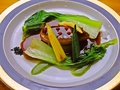 料理メニュー写真フォアグラのソテー 大根と温野菜添え マデラソース