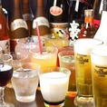 ホルモンと相性抜群のお酒・ワインが数多く揃っています。