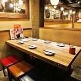 ちょっとした集まりにぴったりの6人用テーブル席◎仲間との飲み会や女子会など食事・会話をお楽しみください★