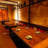 個室は最大47名名までの宴会に対応可。