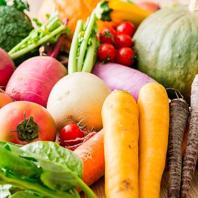 彩豊かな有機野菜をふんだんに♪