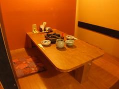大切な方とのお食事にぴったりの個室になります。2名様から4名様までご利用頂けます。