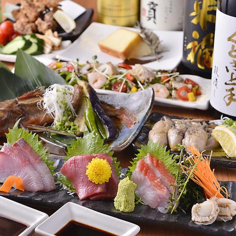 日本酒好きの方も、初心者の方も♪刺身と生ガキ、海鮮珍味が酒の友です。