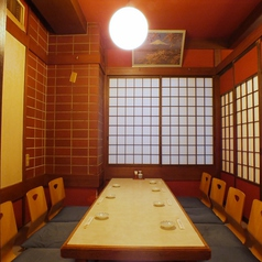ゆったりとお食事が愉しめるお座敷席です。宴会や接待などに。