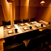 こちらは12名様用テーブル個室.
