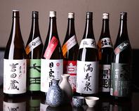 全国の焼酎、日本酒、果実酒は約100種